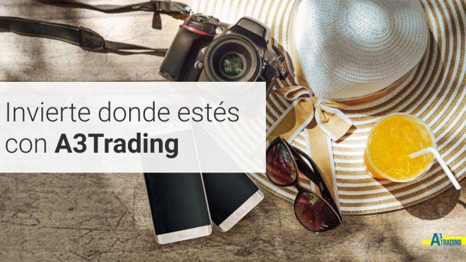 Con A3 Trading puedes operar desde cualquier lugar