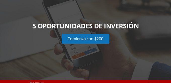 Financika ofrece 5 opciones para invertir