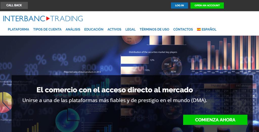 interbanctrading sitio web