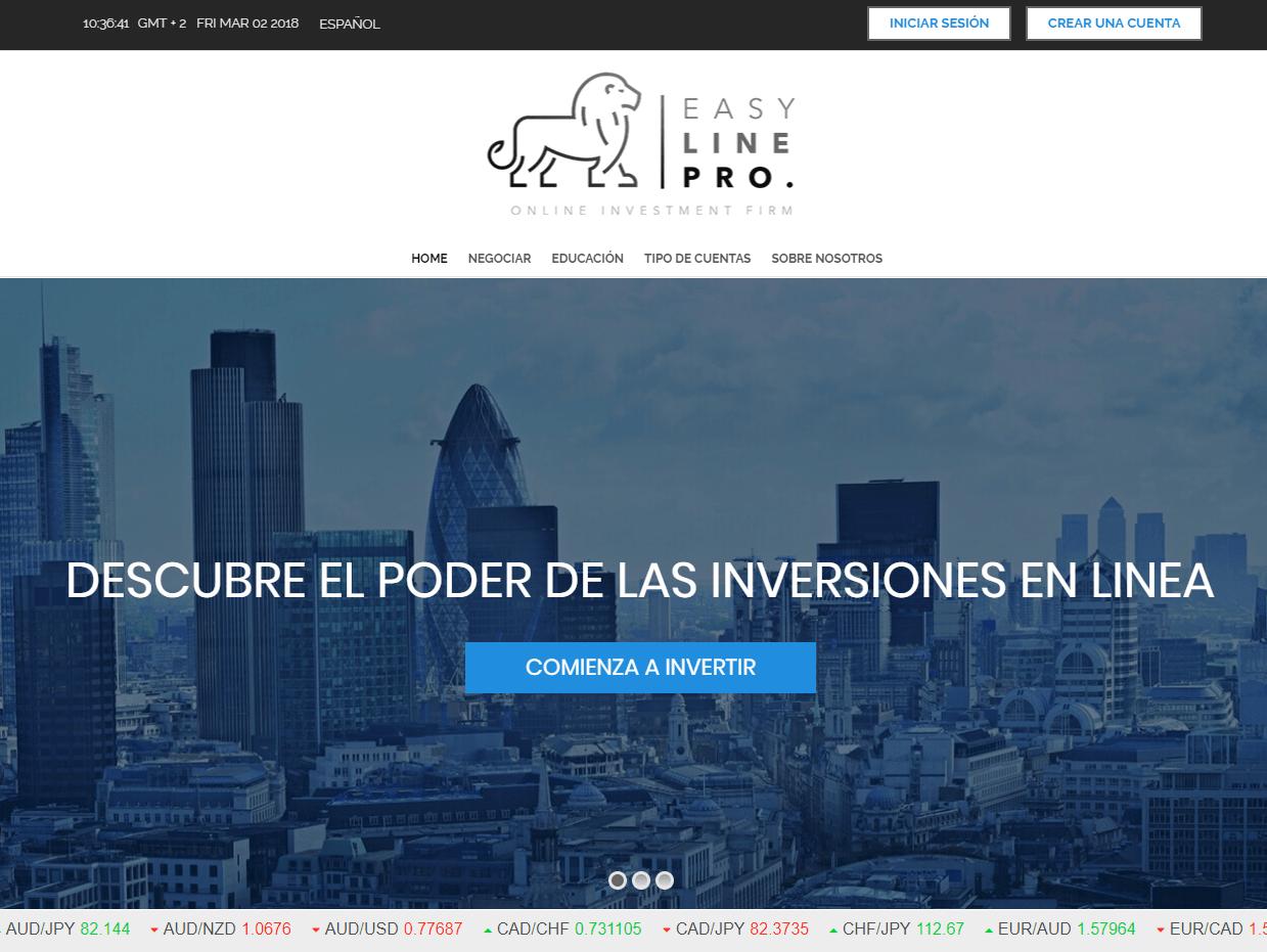easyline pro espanol sitio web